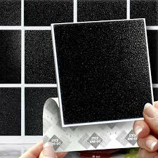 black effect wall tiles box of 8 tiles stick and go wall tiles 6