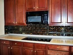 black backsplash in kitchen designer glass mosaics stacked tile kitchen backsplash