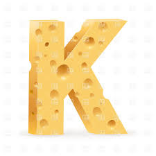 cheese font letter k vector clipart image 16249 u2013 rfclipart