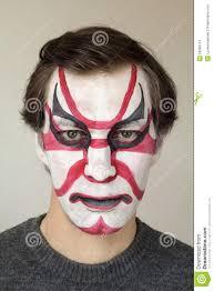 face painting kabuki stock photo image 53086153