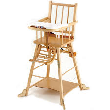 chaise haute transformable en bois massif combelle