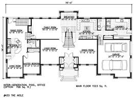 house with inlaw suite house plans with detached in law suite interesting idea home