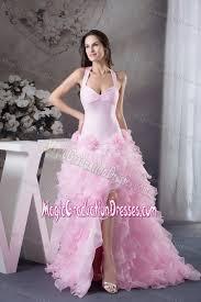 light pink graduation dresses ruffles flowers accent light pink graduation dresses for college