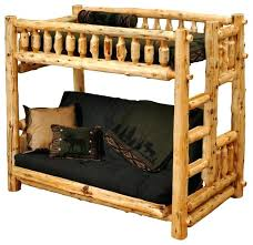 Futon Bunk Bed Sale Futon Loft Beds Cedar Futon Single Ladder Right Log Bunk Bed