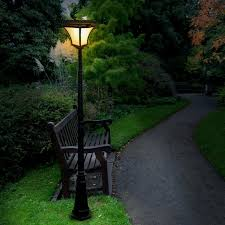 Solar Powered Outdoor Light Fixtures Inspiring Design Front Yard L Post Colour Changing Led Flood