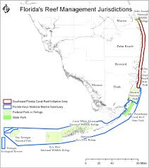Southern Florida Map by Florida Keys Reef Resilience Program The Nature Conservancy