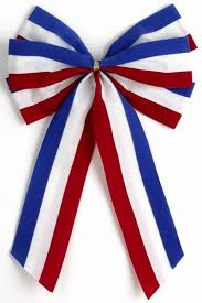 white and blue bows patriotic 4th of july bows independence bunting