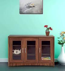 oak finish storage cabinet buy hikari storage cabinet in oak finish by mintwud online modern