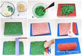 red and green rice krispies treat christmas pinwheels