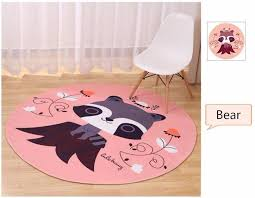 Duck Rugs 160cm Round Cartoon Duck Carpets For Living Room Children Bedroom