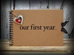 1st year anniversary gift ideas for our year scrapbook year anniversary gift