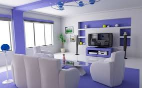 blue and white wall paint colour combination home interior designs