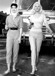 jayne mansfield jayne mansfield and bob hope at the burbank airport 1957 i