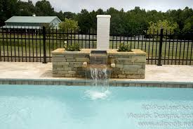 pools with waterfalls fountains waterfalls adi pool spa residential and commercial pools