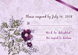 purple floral printable wedding invitation cards cheap