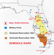 Map Of Southwest Fl The Seminole Wars In Florida