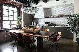 cuisine de luxe moderne lustre industriel cuisine 55 loft idaces ultra modernes de dacco