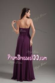 2016 cheap empire ruching prom dress in purple