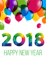 happy new year balloon colorful new year balloon card 2018 birthday greeting cards by