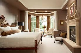 Beautiful Traditional Bedrooms - brown and white tones in traditional bedroom home interior