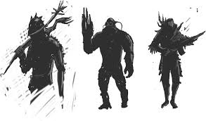 silhouette design bad guys silhouette design by froggybre on deviantart