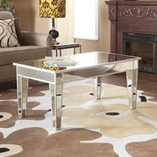 Simplemodern Simple Modern Rectangle Mirrored Coffee Table With Wooden Frame