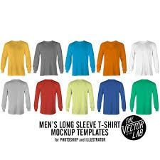 men u0027s long sleeve t shirt mockup templates thevectorlab