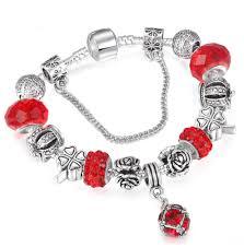 charm bracelet vintage silver images Danish style vintage silver crystal charm bracelet doux png