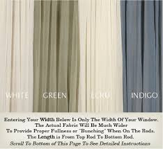 Top And Bottom Rod Curtains Sheer Door Curtains And French Door Curtains Custom Made In Any Size