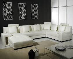 U Shaped Leather Sectional Sofa Living Room Cute Image Of Black White Living Room Decoration Using