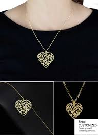 arabic nameplate necklace day gift customized arabic calligraphy nameplate necklace