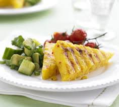 cuisine polenta griddled polenta with corn green salsa recipe food