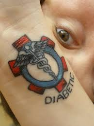 medic alert tattoo after being taken to the er in an ambulance