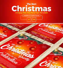 free christmas u0026 happy new year party flyer template in ai u0026 psd