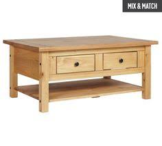Pine Coffee Tables Uk Buy Collection Arizona 2 Drawer 1 Shelf Solid Pine Coffee Table At