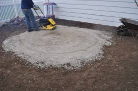 Pea Gravel Concrete Patio by Carri Us Home Diy Paver Patio