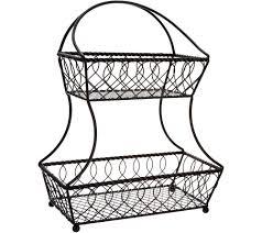 gourmet basics by mikasa loop u0026 lattice 2 tier flatback basket