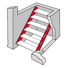 2 Step Stair Stringer by Bilco Basement Door Galvanized Steel Stair Stringers From Buymbs Com