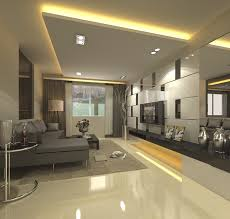 L Shaped Room Ideas Living Room Recessed Cove Ceiling Lights Setup In Modern Gray