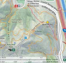 griffith park map dan s hiking pages beacon hill