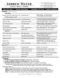 Musical Theater Resume Andrew Mayer U2013 Acting U2022 Music U2022 Combat