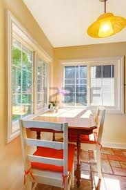Cozy Dining Room by Cozy Dining Table Breakfast Area In The Small Kitchen Stock Photo