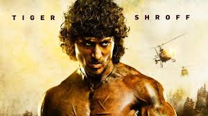 tiger shroff turns angry for rambo poster sylvester stallone hopes