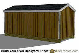 Backyard Storage Sheds Plans by 8x18 Shed Plans Storage Shed Plans Icreatables Com
