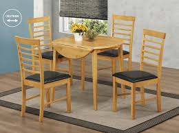 round drop leaf table and 4 chairs hanover round 4 seater drop leaf dining set budget dining sets