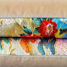 Bolster Cushion Pad Long Bolster Cushion Yellow Gold Brocade Eco Wedding Gift