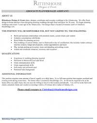 self wedding planner cover letter for employment as an accountant intro for