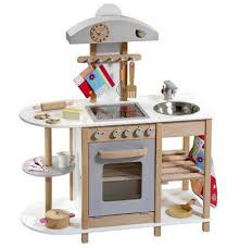 howa spielk che cocina madera infantil y blanca plateada escolinha
