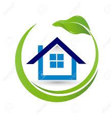 Haus Und Haus Immobilien Haus Und Blatt Immobilien Vektor Bild Konzept Der Schließung