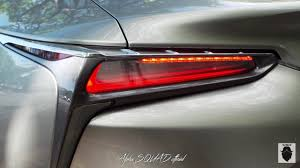 lexus lf lc tail lights 2018 lexus lc 500h multi stage hybrid youtube